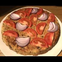 Gâteau salé de pois chiches, quinoa, légumes et Sojami Ail & Fines Herbes