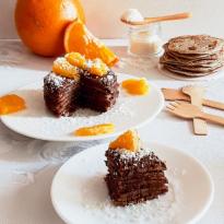 Galettes de sarrasin noisette, orange et noix de coco