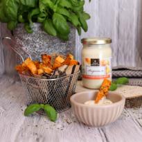 Frites de patates douces maison avec mayonnaise BIO