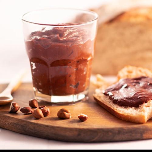 Pâte à tartiner lentilles corail-chocolat-noisettes