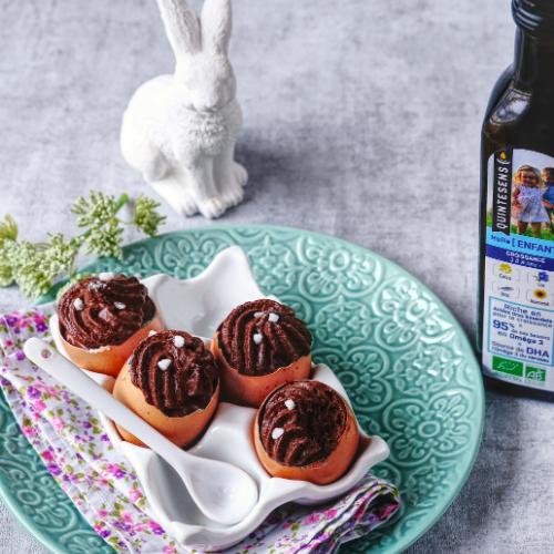 Oeufs de Pâques en mousse chocolat