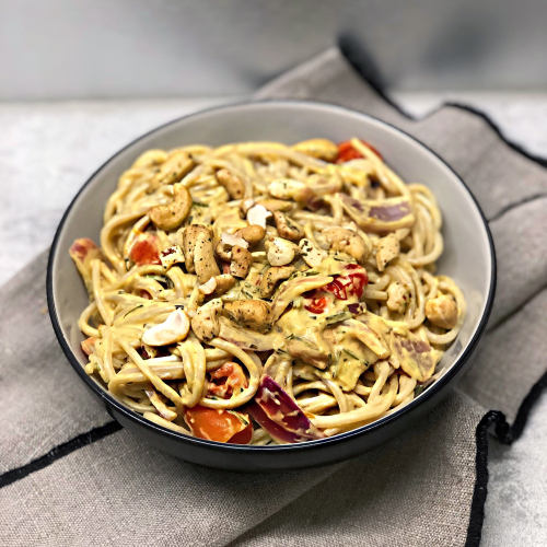 spaghetti sans gluten crémeuses à la tomate