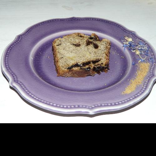 Cake protéiné aux pruneaux