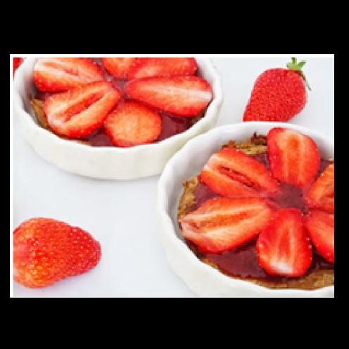 Tartelettes aux fraises sans gluten et sans lactose