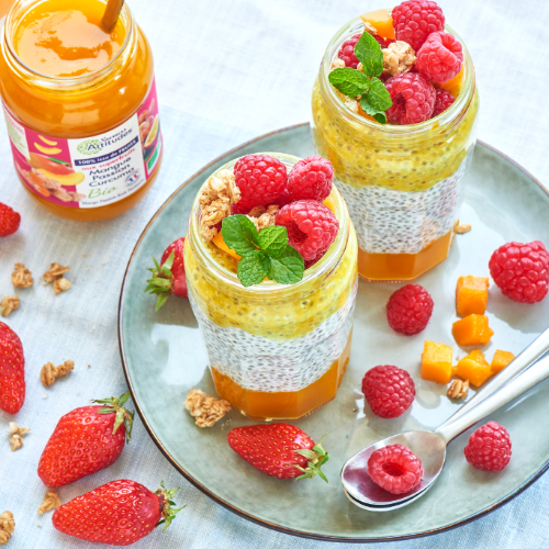 Pudding de chia Mangue Passion Curcuma bio