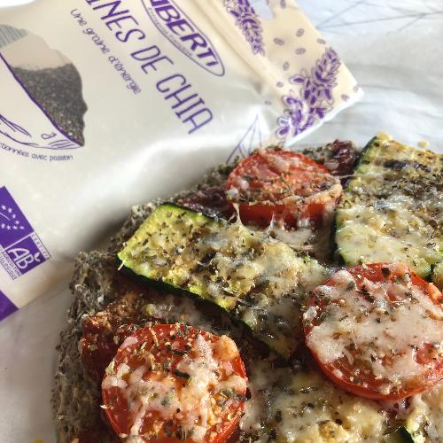 Pizza végétarienne aux graines de chia